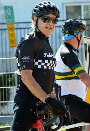 Harrison Ford seen on a morning bike ride in Santa Monica