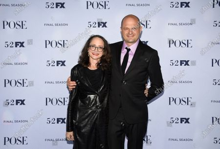 """Executive producers Nina Jacobson, left, and Brad Simpson attend FX's """"Pose"""" third and finale season premiere at Jazz at Lincoln Center, in New York"""