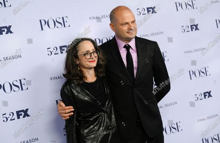"""Stock Image of Executive producers Nina Jacobson, left, and Brad Simpson attend FX's """"Pose"""" third and finale season premiere at Jazz at Lincoln Center, in New York"""
