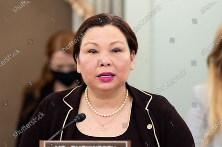 Stock Photo of U.S. Senator Tammy Duckworth (D-IL) speaks at a hearing of the Senate Commerce, Science, and Transportation committee.