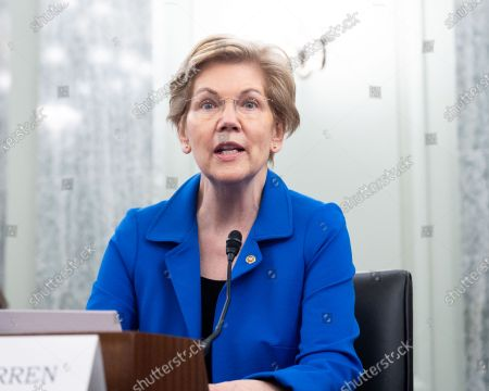 Stock Picture of U.S. Senator Elizabeth Warren (D-MA) speaks at a hearing of the Senate Commerce, Science, and Transportation committee.