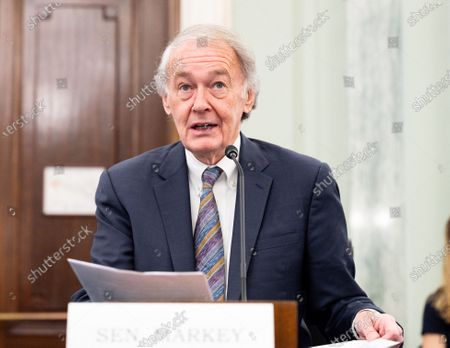 U.S. Senator Ed Markey (D-MA) speaks at a hearing of the Senate Commerce, Science, and Transportation committee.
