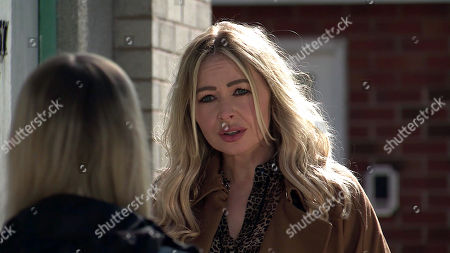 Coronation Street - Ep 10323 Wednesday 12th May 2021 - 1st Ep Imran Habeeb's attempts to get Kelly Neelan, as played by Millie Gibson, to tell the police what happened are hampered when her mum Laura Neelan, as played by Kel Allen, appears and tells her daughter to say nothing to the police.