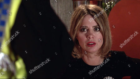 Coronation Street - Ep 10318 Wednesday 5th May 2021 - 2nd Ep The police arrive on the street to break the devastating news to Abi Franklin, as played by Sally Carman, that Nina and Seb have been attacked.