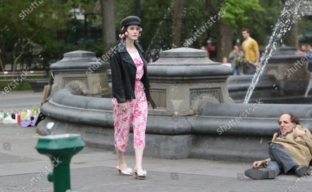 Editorial picture of 'The Marvelous Mrs. Maisel' TV show on set filming, New York, USA - 29 Apr 2021