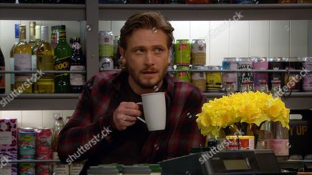 Emmerdale - Ep 9037 Monday 3rd May 2021 Liam Cavanagh has given David Metcalfe, as played by Matthew Wolfenden, a secret mission to help him set up his proposal to Leyla.