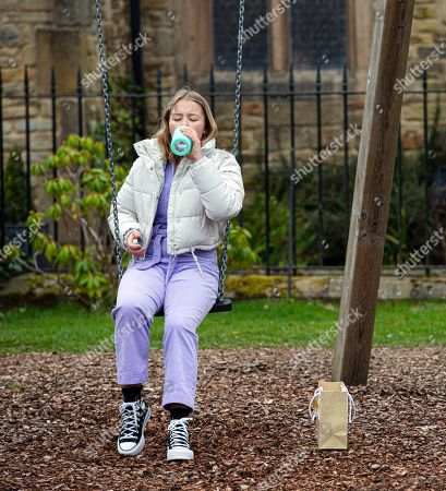 Emmerdale - Ep 9046 Thursday 13th May 2021 - 1st Liv Flaherty, as played by Isobel Steele, feels utterly lost and takes another drink of vodka to numb the pain.