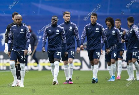 Fernandinho of Manchester City  leads the team out