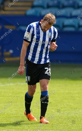Jordan Rhodes of Sheffield Wednesday is dejected after the full time whistle with them only managing a 0-0 draw against Nottingham Forest
