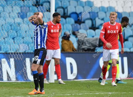 Stock Photo of Jordan Rhodes of Sheffield Wednesday rues a missed chance on goal