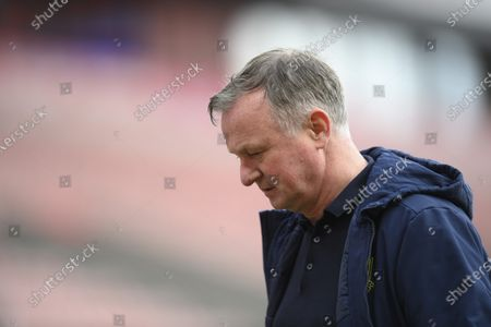 Michael O'Neill manager of Stoke City.
