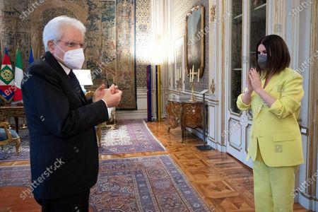 Editorial picture of Italian Republic President Sergio Mattarella meets Italian singer Laura Pausini, Quirinale Palace, Rome, Italy - 29 Apr 2021
