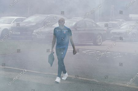 Alex John-Baptiste of Bolton Wanderers was through the smoke bombs to get to the stadium