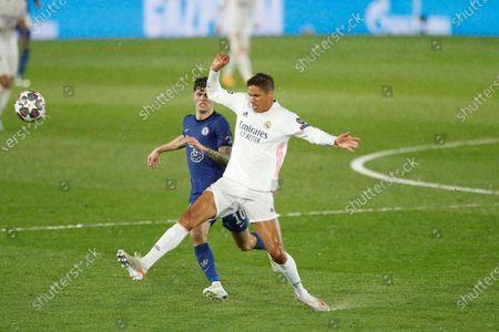 Raphael Varane (Real) - Football / Soccer : UEFA Champions League Semi-finals 1st leg match between Real Madrid CF 1-1 Chelsea FC at the Estadio Alfredo Di Stefano in Madrid, Spain.
