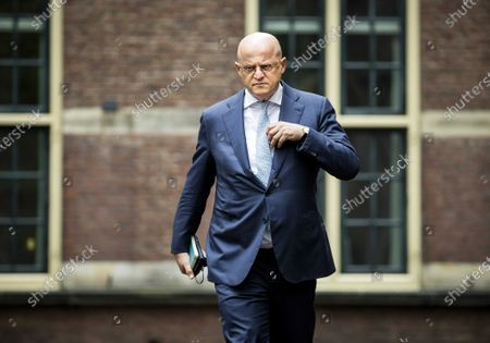 Dutch outgoing Minister of Justice Ferdinand Grapperhaus arrives at the Binnenhof for a coronavirus meeting prior to the weekly Council of Ministers, In The Hague, the Netherlands, 30 April 2021.