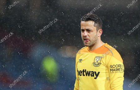 Stock Image of West Ham goalkeeper Lukasz Fabianski