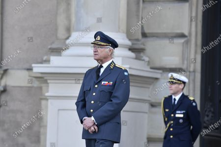 King Carl Gustaf celebrates his 75th birthday at The Royal Palace in Stockholm, Sweden