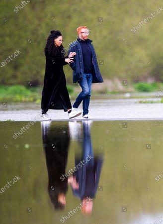 Editorial photo of Walking on Water, Old Deer Park, Richmond upon Thames, Old Deer Park, London, UK - 30 Apr 2021