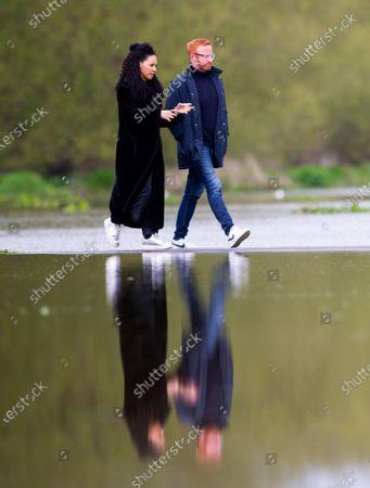 Editorial image of Walking on Water, Old Deer Park, Richmond upon Thames, Old Deer Park, London, UK - 30 Apr 2021
