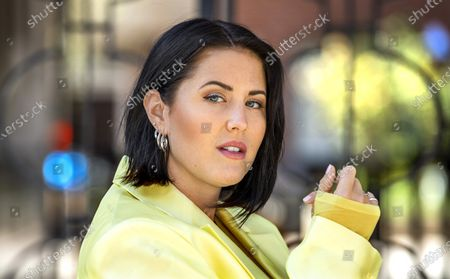 """Stock Image of Swedish singer Molly Sanden who voiced all songs performed by Rachel McAdams' character, Sigrit Ericksdóttir, in """"Eurovision Song Contest: The Story of Fire Saga"""", photographed in Stockholm, Sweden"""