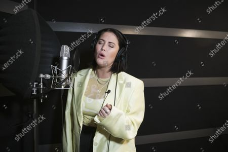 """Swedish singer Molly Sanden who voiced all songs performed by Rachel McAdams' character, Sigrit Ericksdóttir, in """"Eurovision Song Contest: The Story of Fire Saga"""", photographed in Stockholm, Sweden, on April 20, 2021. Molly sang """"Husavik"""" on the Oscars pre-show"""