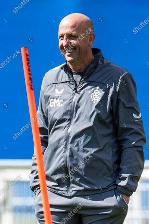 Rangers Assistant Manager Gary McAllister during training ahead of Sunday's final Old Firm clash of the season.