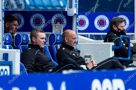 Rangers Technical Coach Tom Culshaw and Assistant Manager Gary McAllister during the Scottish Premiership match at Ibrox Stadium, Glasgow.