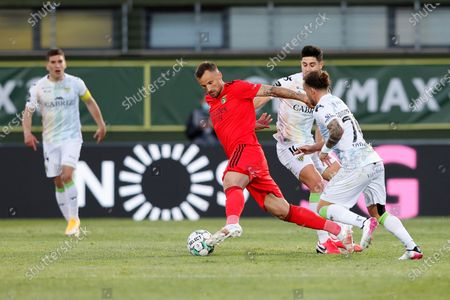 Stock Image of Haris Seferovic in action during the Liga NOS match between CD Tondela and Benfica at João Cardoso, Tondela