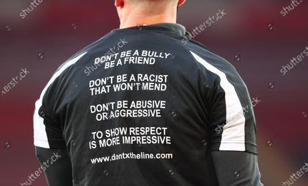 Stock Picture of English referee Robert Jones warms up ahead the English Premier League soccer match between Southampton FC and Leicester City in Southampton, Britain, 30 April 2021.