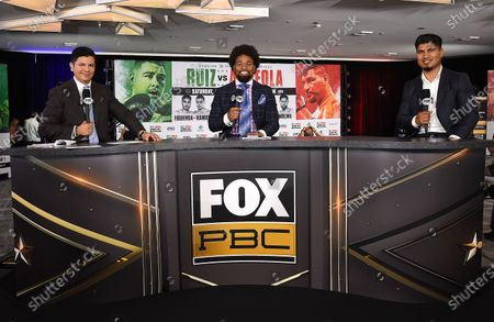 Stock Photo of Ray Flores, Shawn Porter and Mikey Garcia