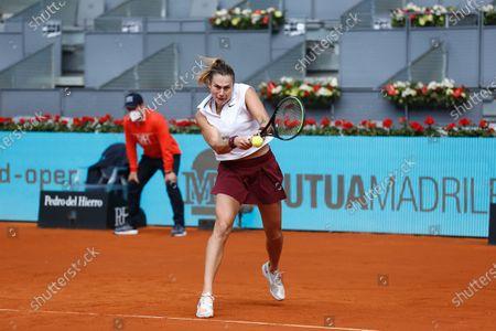 Editorial image of Mutua Madrid Open 2021: Aryna Sabalenaka - Vera Zvonareva, Madrid, Spain - 30 Apr 2021