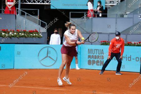 Editorial photo of Mutua Madrid Open 2021: Aryna Sabalenaka - Vera Zvonareva, Madrid, Spain - 30 Apr 2021