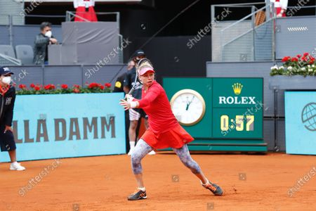 Editorial picture of Mutua Madrid Open 2021: Aryna Sabalenka - Vera Zvonareva, Madrid, Spain - 30 Apr 2021