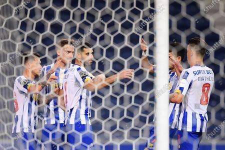 Mehdi Taremi of FC Porto celebrates his penalty goal in the 61th minute 2-1