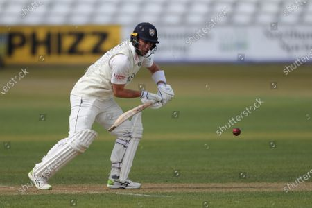 Durham's Will Young   during the LV= County Championship match between Durham County Cricket Club and Warwickshire County Cricket Club at Emirates Riverside, Chester le Street on  Friday 30th April 2021.