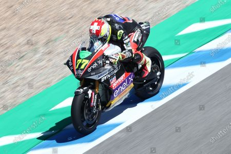 CIRCUITO DE JEREZ, SPAIN - APRIL 30: Dominique Aegerter, Dynavolt Intact GP during the Spanish GP at Circuito de Jerez on April 30, 2021 in Circuito de Jerez, Spain. (Photo by Gold and Goose / LAT Images)