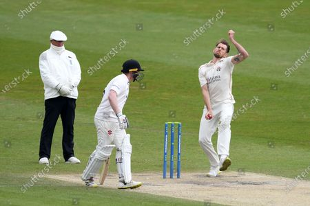 Stock Picture of Tom Bailey of Lancashire bowling during the LV= Insurance County Championship match between Sussex County Cricket Club and Lancashire County Cricket Club at the 1st Central County Ground, Hove