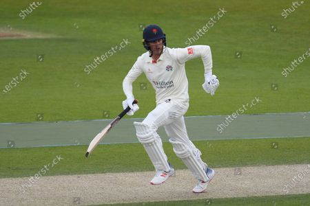 Keaton Jennings of Lancashire batting during the LV= Insurance County Championship match between Sussex County Cricket Club and Lancashire County Cricket Club at the 1st Central County Ground, Hove