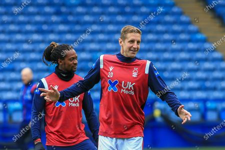 Michael Dawson (20) of Nottingham Forest in the warm up session during the EFL Sky Bet Championship match between Sheffield Wednesday and Nottingham Forest at Hillsborough, Sheffield