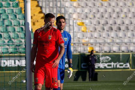 Haris Seferovic anger after missing an opportunity during the game for Liga NOS between CD Tondela and SL Benfica, at Estádio João Cardoso, Tondela, Portugal, 30, April, 2021