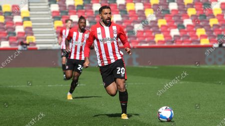 Stock Photo of Saman Ghoddos of Brentford in action during Brentford vs Watford, Sky Bet EFL Championship Football at the Brentford Community Stadium on 1st May 2021