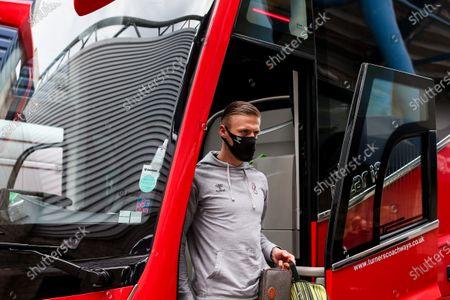 Daniel Bentley of Bristol City arrives