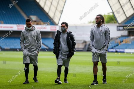 Stock Picture of Danny Simpson, Jay Dasilva and Kasey Palmer of Bristol City
