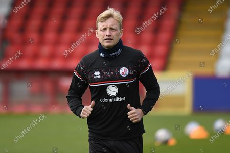 Stock Picture of Crawley Town midfielder Josh Wright (44) during the EFL Sky Bet League 2 match between Stevenage and Crawley Town at the Lamex Stadium, Stevenage