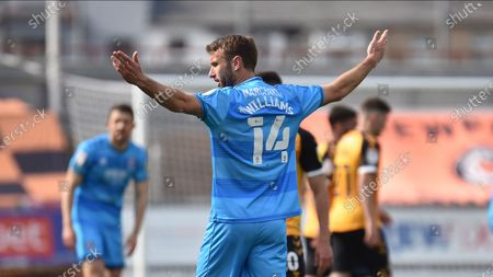 Cheltenham Town's Andy Williams during the EFL Sky Bet League 2 match between Newport County and Cheltenham Town at Rodney Parade, Newport