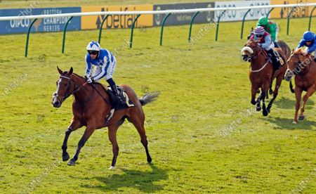Stock Image of CHIL CHIL (Silvestre de Sousa) wins The Betfair Exchange Handicap Newmarket