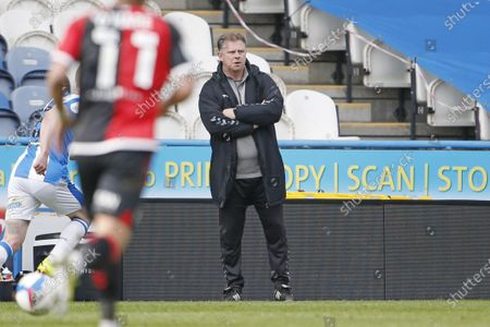 Coventry City manager Mark Robins during the EFL Sky Bet Championship match between Huddersfield Town and Coventry City at the John Smiths Stadium, Huddersfield