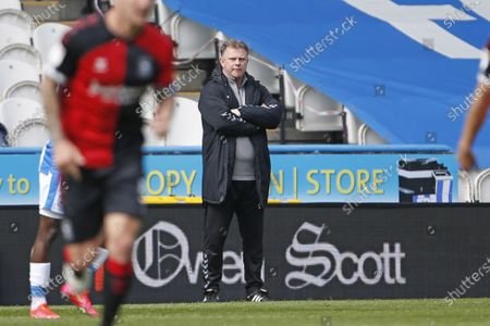 Stock Image of Coventry City manager Mark Robins during the EFL Sky Bet Championship match between Huddersfield Town and Coventry City at the John Smiths Stadium, Huddersfield