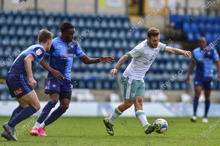 AFC Bournemouth's Jack Wilshere (11) plays a pass during the EFL Sky Bet Championship match between Wycombe Wanderers and Bournemouth at Adams Park, High Wycombe
