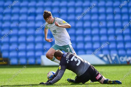 Stock Picture of AFC Bournemouth midfielder David Brooks (7) gets away from Wycombe Wanderers goalkeeper David Stockdale (31) during the EFL Sky Bet Championship match between Wycombe Wanderers and Bournemouth at Adams Park, High Wycombe